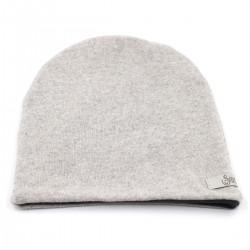 Vilnos kepurė Balta pilkai 4d